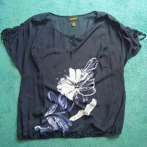 Lane Bryant Sheer Floral Top Plus Size 18/20